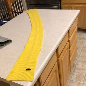 JCrew yellow cashmere scarf